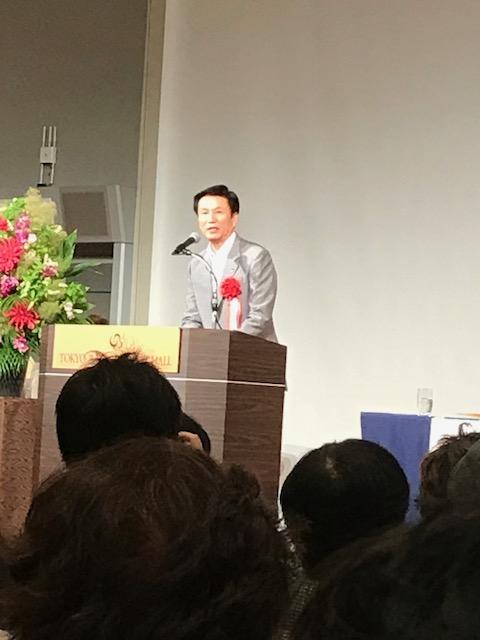 挨拶する千葉県知事 森田健作氏